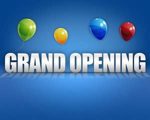 3d Grand Opening Balloons Background