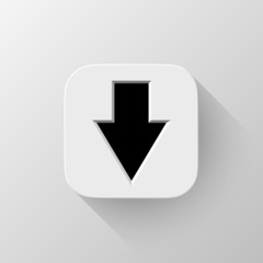 White Abstract App Icon with Arrow Sign