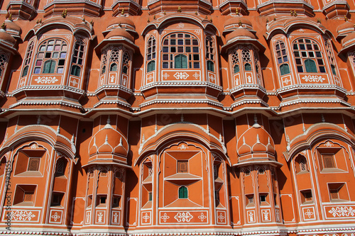 The Palace of Winds, Jaipur, Rajasthan, India close up