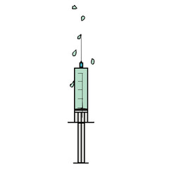 vector drawing of a syringe