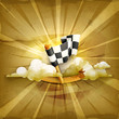 Checkered flag, old style background