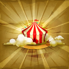 Circus, old style background