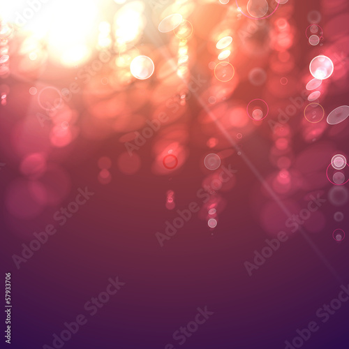 Bokeh light vintage background.