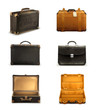 Old suitcase set