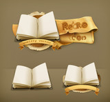 Open book, icon