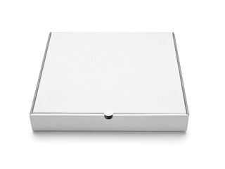 white box pizza food container template blank package
