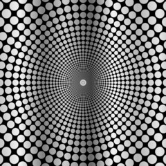 abstract background of circles.gray circumference on a black bac