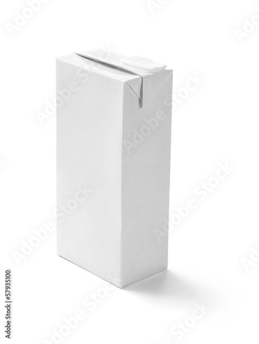 white box container milk drink template blank package