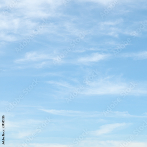 canvas print picture light clouds in the blue sky