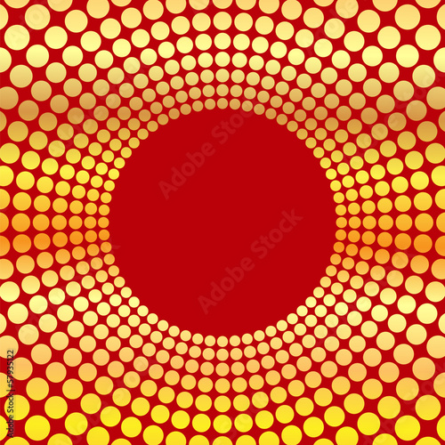 abstract background of circles.circumference of gold color on a