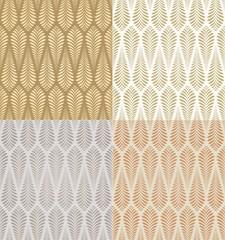 seamless gold foliage pattern