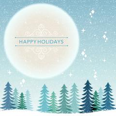 クリスマス バックグラウンド Winter Holiday background - snowing night