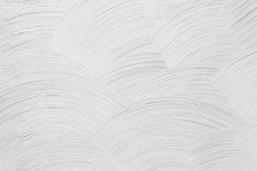 Closeup white concrete wall texture with round plaster decorativ