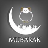 Mubarak.Muslim community festival of sacrifice Eid Ul Adha poster