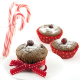 Christmas tasty muffins in paper form