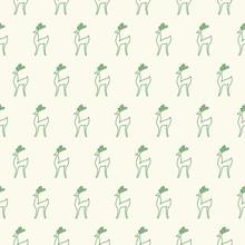 Nahtlose Cartoon-Hintergrund Hirsch