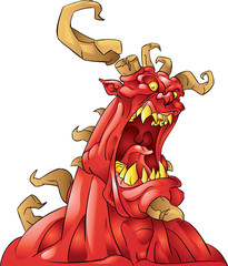 red monster with horns
