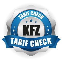 KFZ Tarif Check Siegel in blau
