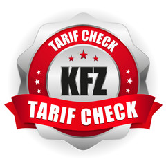 KFZ Tarif Check Siegel in rot