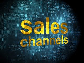 Advertising concept: Sales Channels on digital background