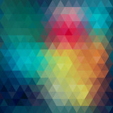 Triangle neon seamless background
