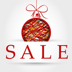 red christmas sale with ball