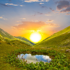 evening mountain valley