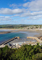 View from St Michael's Mount Cornwall England