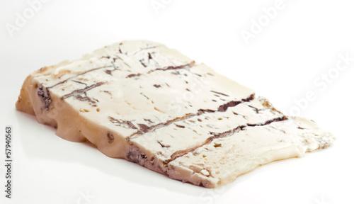 triangular piece of creamy gorgonzola