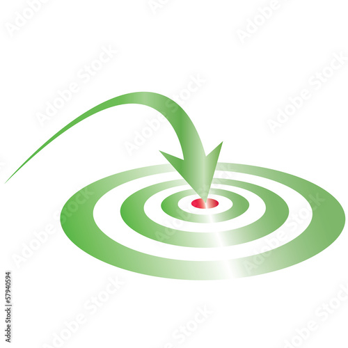 green target green arrow re center