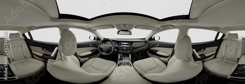 Car interior pano