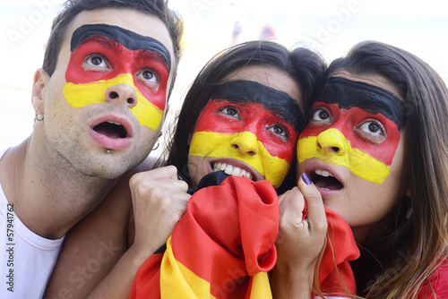 German soccer fans astonished.