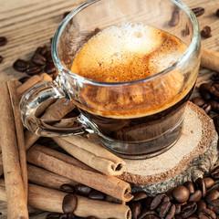 caffè espresso con cannella