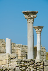 marble columns and ruins