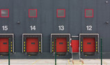 Warehouse With Numbered Slots for Truck Unloading
