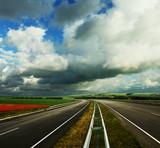 Empty road landscape