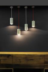 Four modern lamp