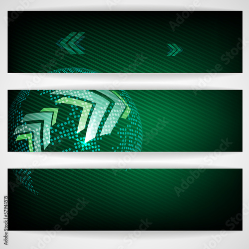 Arrow Green Background With Place For Your Text.
