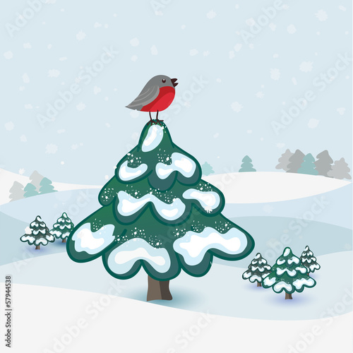 Winter background in vector