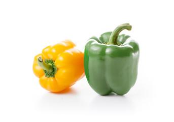 Fresh Green and Yellow Paprika