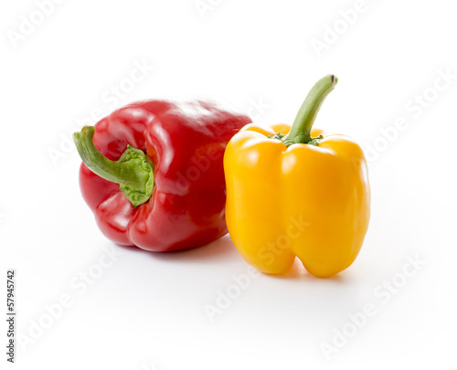 Fresh Red and Yellow Paprika