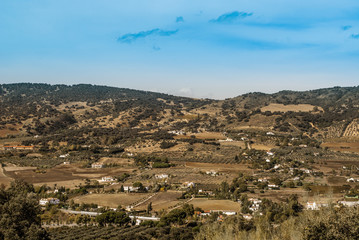 The landscape of Andalusia