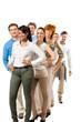 gruppe team mit chef und mitarbeitern geschäft business isolier