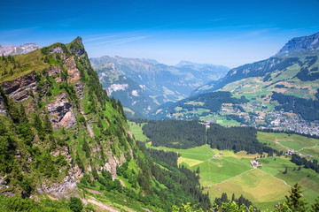 View to Engelberg area from Truebsee