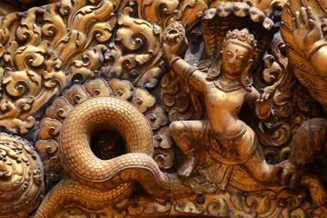 Brazen relief, sculpture of Shiva the destroyer