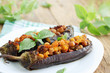 eggplant with chick-pea