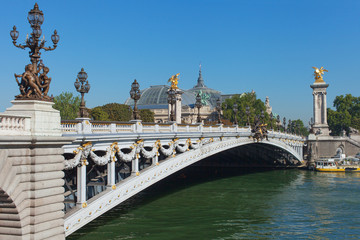 Alexander III bridge, Paris.