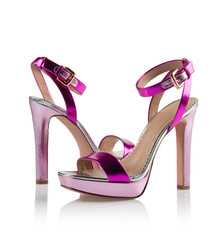 Pink Pair of women shoes