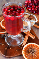 Winter drink with spice