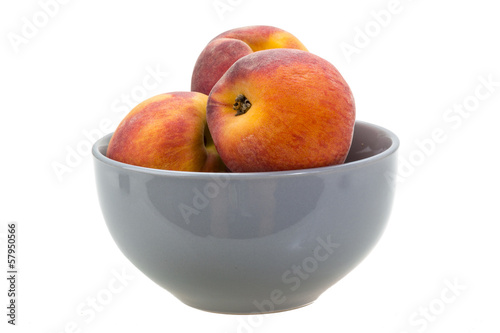 Bright ripe peaches